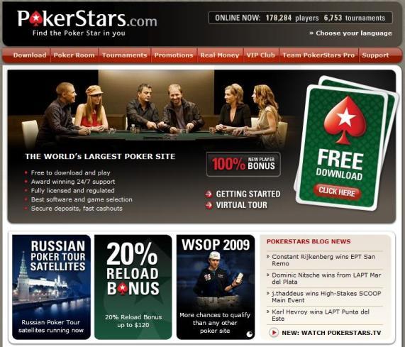 www.Pokerstars.com Bonus